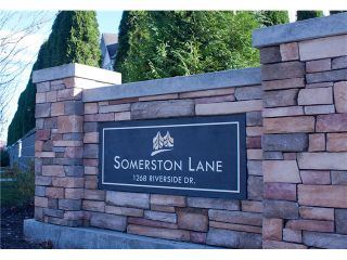 """Photo 1: 41 1268 RIVERSIDE Drive in Port Coquitlam: Riverwood Townhouse for sale in """"Somerston Lane"""" : MLS®# V995034"""