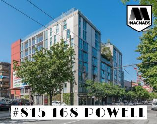 """Photo 1: 815 168 POWELL Street in Vancouver: Downtown VE Condo for sale in """"Smart"""" (Vancouver East)  : MLS®# R2599942"""