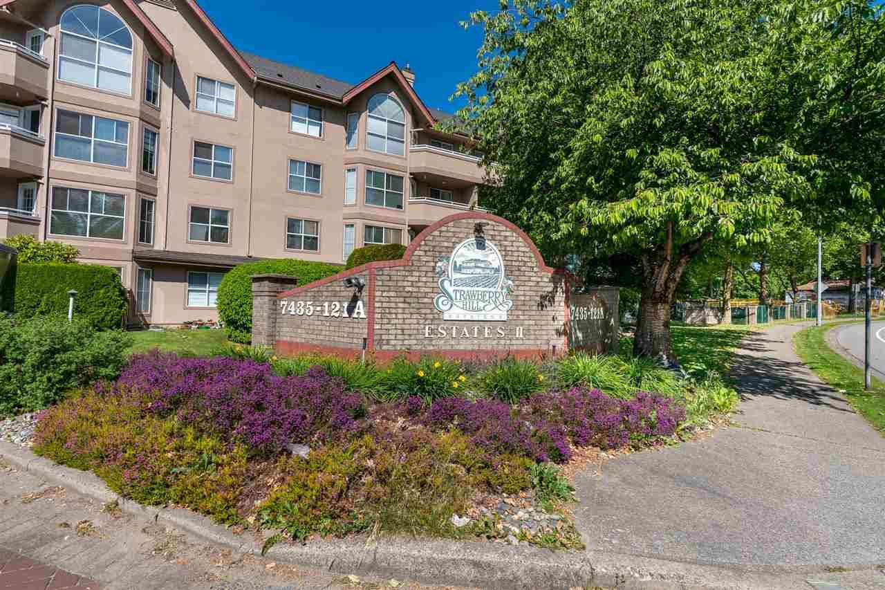 """Main Photo: 303 7435 121A Street in Surrey: West Newton Condo for sale in """"Strawberry Hill Estates"""" : MLS®# R2590639"""
