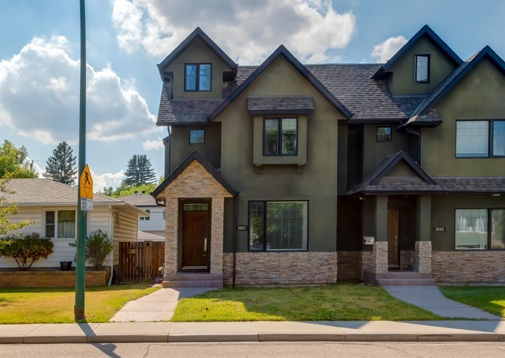 Main Photo: 3803 1 Street NW in Calgary: Highland Park Semi Detached for sale : MLS®# A1127237