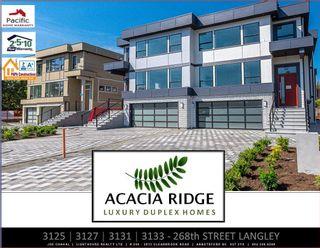 "Photo 1: 3125 268 Street in Langley: Aldergrove Langley 1/2 Duplex for sale in ""Acacia Ridge"" : MLS®# R2616820"