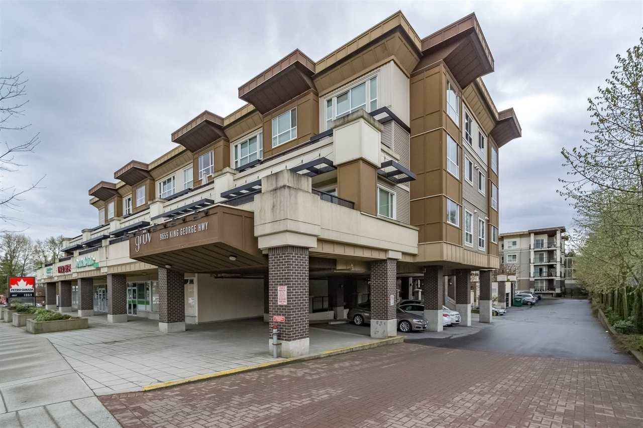 Main Photo: 223 9655 KING GEORGE BOULEVARD in : Whalley Condo for sale : MLS®# R2159457