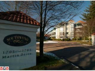 "Photo 1: 206 1785 MARTIN Drive in Surrey: Sunnyside Park Surrey Condo for sale in ""SOUTHWYND"" (South Surrey White Rock)  : MLS®# F1208997"