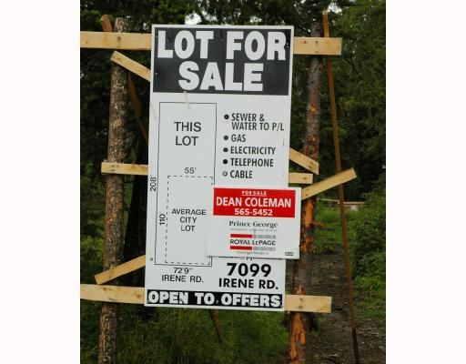 Main Photo: 7099 IRENE Road in Prince_George: Lafreniere Land for sale (PG City South (Zone 74))  : MLS®# N175586