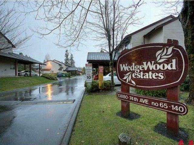 "Main Photo: 129 13880 74TH Avenue in Surrey: East Newton Townhouse for sale in ""WEDGEWOOD ESTATES"" : MLS®# F1200797"