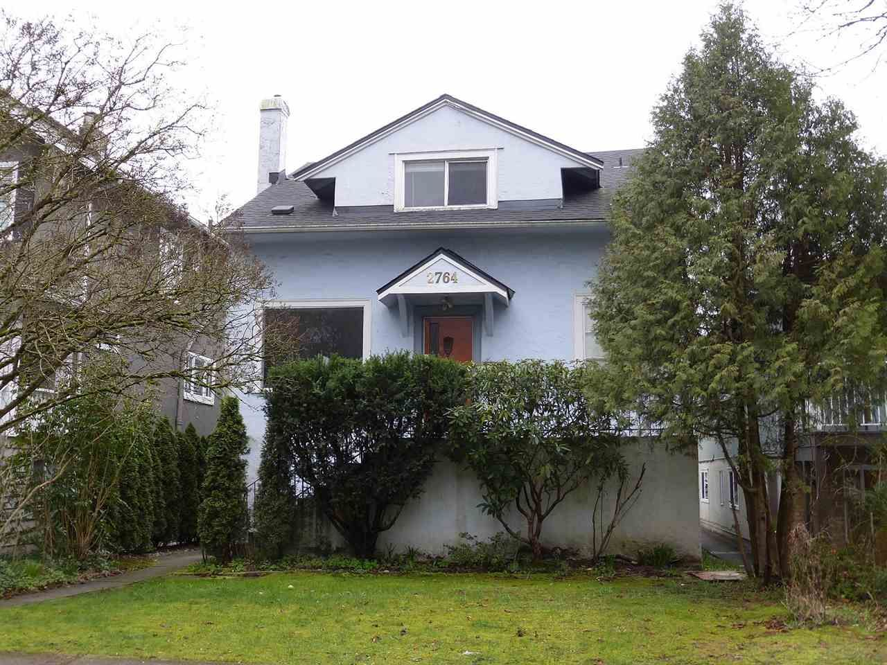 Main Photo: 2764 W 12TH Avenue in Vancouver: Kitsilano House for sale (Vancouver West)  : MLS®# R2042125