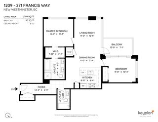 """Photo 2: 1209 271 FRANCIS Way in New Westminster: Fraserview NW Condo for sale in """"PARKSIDE"""" : MLS®# R2541704"""