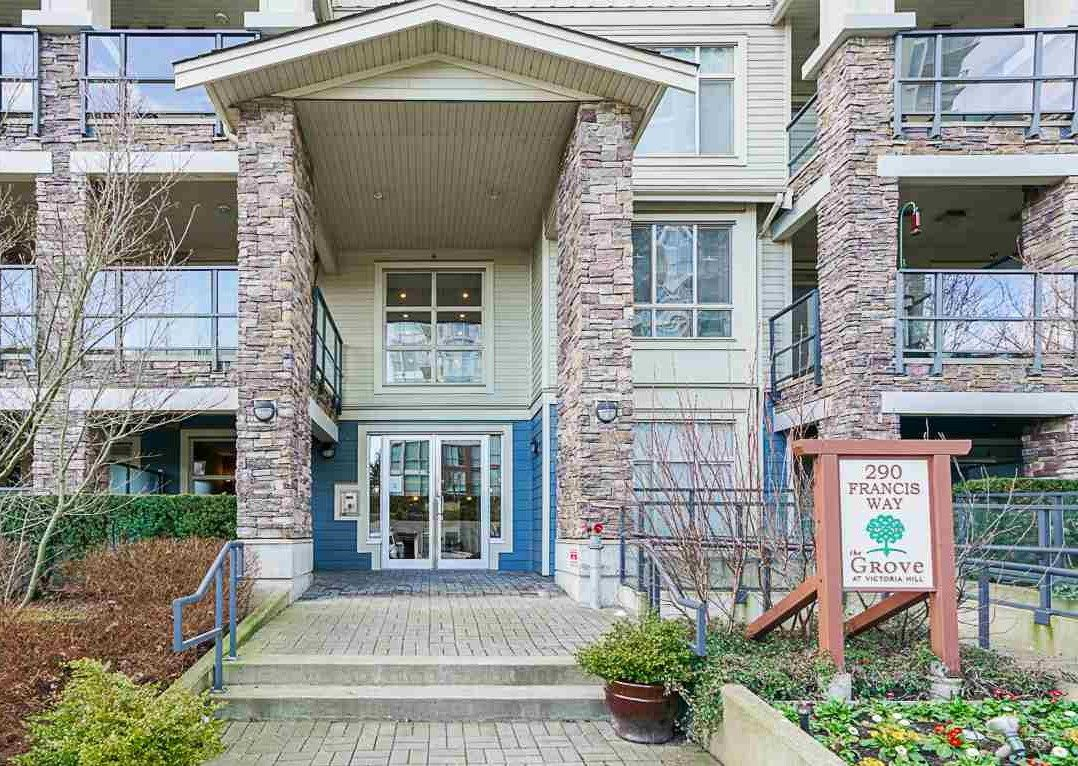 """Main Photo: 106 290 FRANCIS Way in New Westminster: Fraserview NW Condo for sale in """"THE GROVE"""" : MLS®# R2537648"""