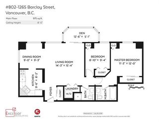Photo 20: 802 1265 BARCLAY STREET in : West End VW Condo for sale (Vancouver West)  : MLS®# R2098949