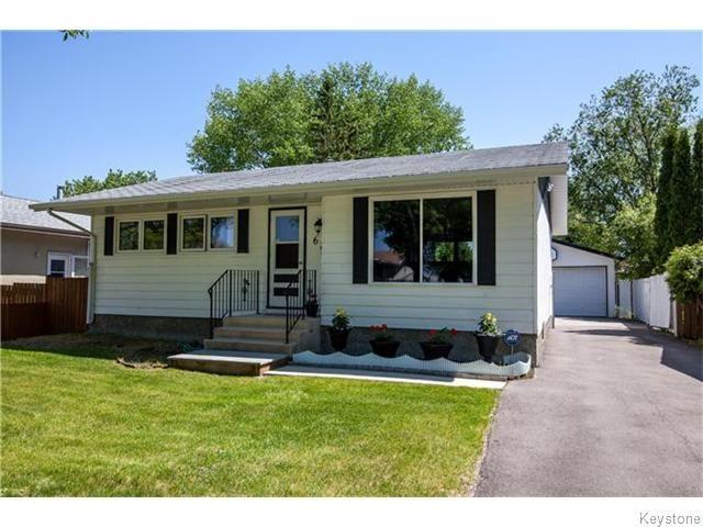 Main Photo: 67 Capulet Crescent in Winnipeg: Crestview Residential for sale (St. James)  : MLS®# 1614212