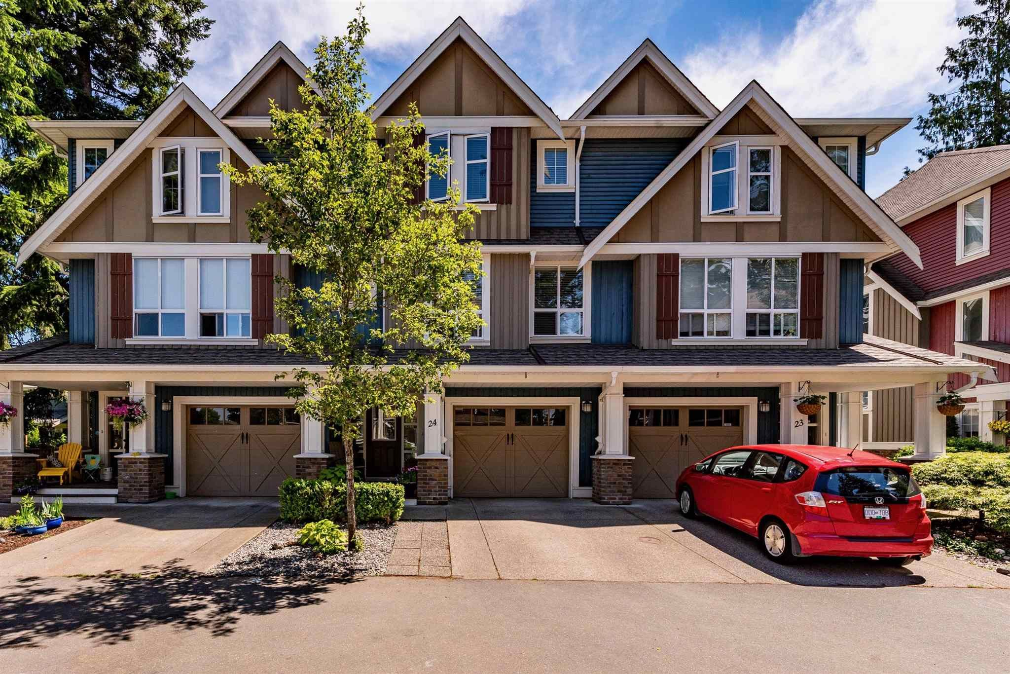 """Main Photo: 24 5837 SAPPERS Way in Chilliwack: Vedder S Watson-Promontory Townhouse for sale in """"The Woods"""" (Sardis)  : MLS®# R2596569"""