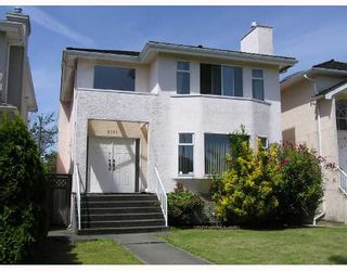 Photo 1: 8181 SHAUGHNESSY Street in Vancouver: Marpole House for sale (Vancouver West)  : MLS®# V655135