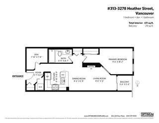 "Photo 11: 313 3278 HEATHER Street in Vancouver: Cambie Condo for sale in ""THE HEATHERSTONE"" (Vancouver West)  : MLS®# R2561814"