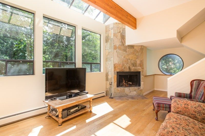 Gorgeous vaulted living room with westcoast styling