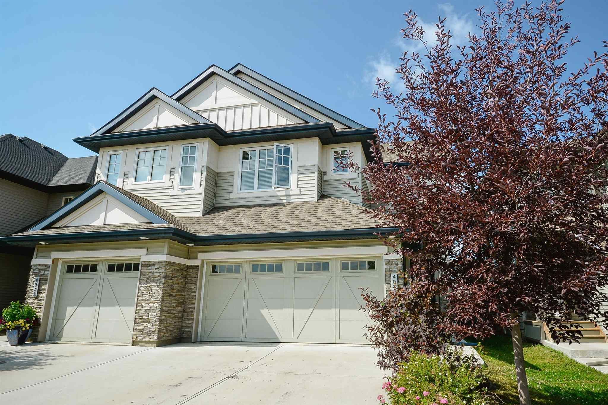 Main Photo: 4073 ALLAN Crescent in Edmonton: Zone 56 House Half Duplex for sale : MLS®# E4256367