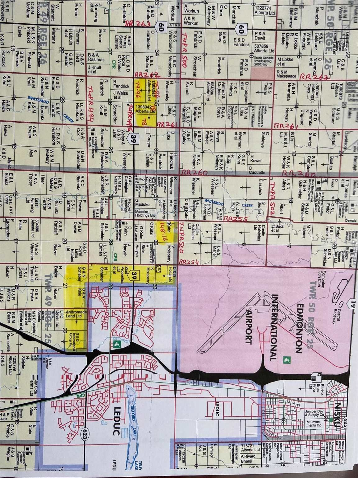 Main Photo: Hwy 39 & RR 261 NW: Rural Leduc County Rural Land/Vacant Lot for sale : MLS®# E4246894