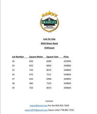 Photo 1: LOT 25 8250 NIXON Road in Chilliwack: Eastern Hillsides Land for sale : MLS®# R2259202