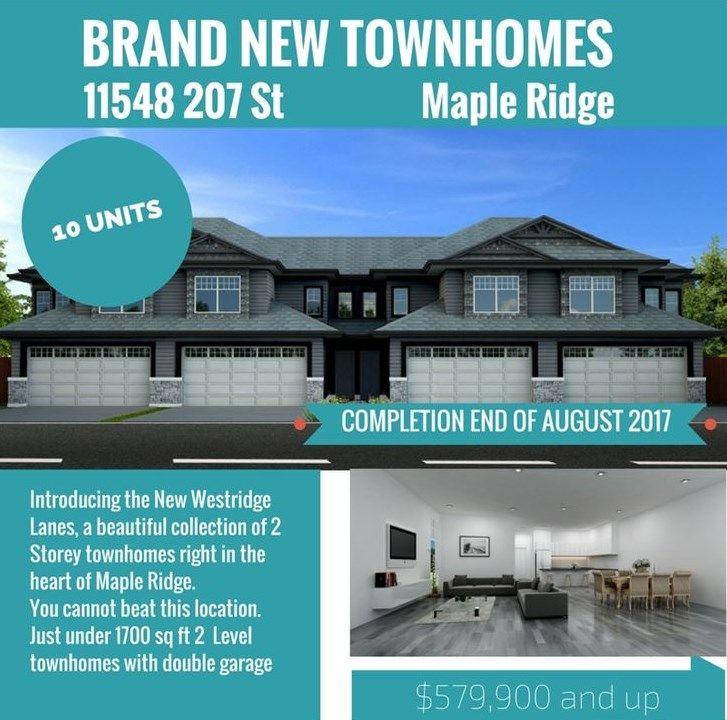 Main Photo: 4 11548 207 STREET in : Southwest Maple Ridge Townhouse for sale : MLS®# R2132448
