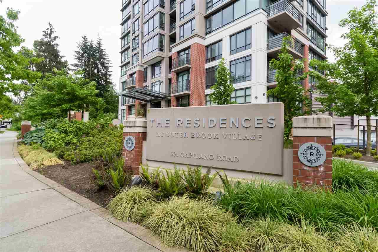 """Main Photo: 206 301 CAPILANO Road in Port Moody: Port Moody Centre Condo for sale in """"THE RESIDENCES A SUTER BROOK"""" : MLS®# R2423063"""