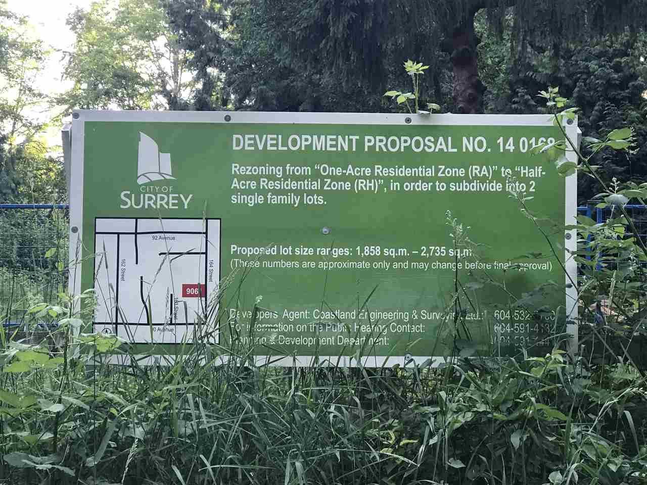 Main Photo: LT.1 9061 164 Street in Surrey: Fleetwood Tynehead Land for sale : MLS®# R2178210