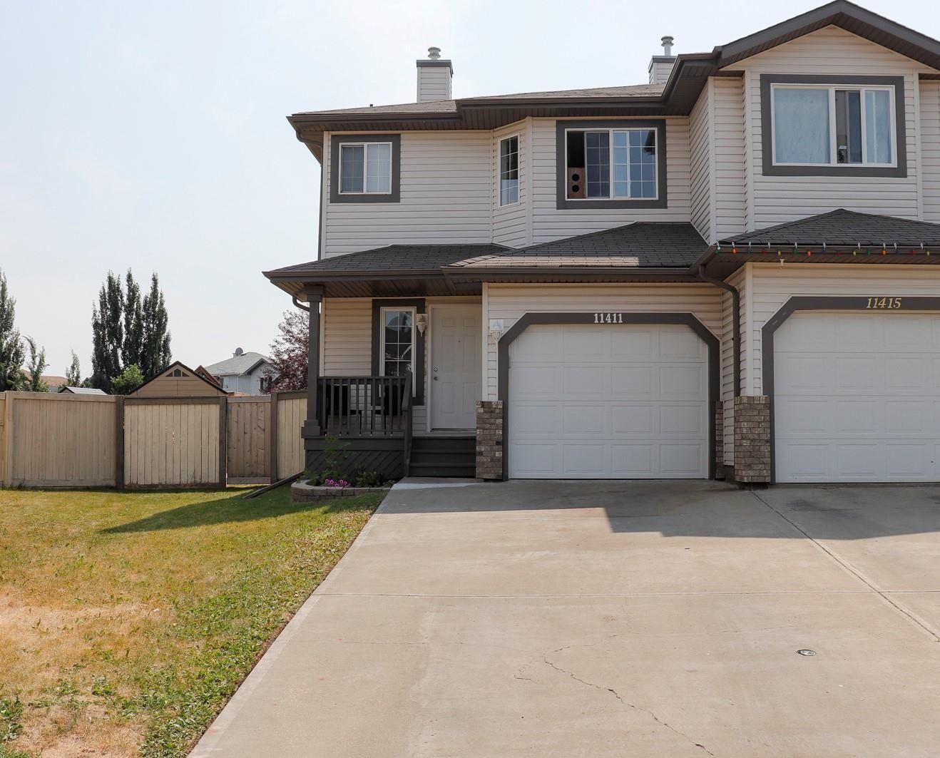 Main Photo: 11411 169 Avenue in Edmonton: Zone 27 House Half Duplex for sale : MLS®# E4254972