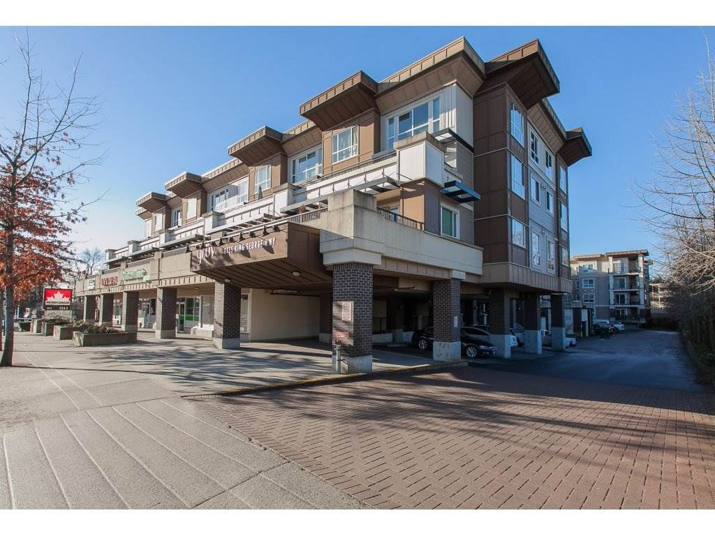 """Main Photo: 322 9655 KING GEORGE Boulevard in Surrey: Whalley Condo for sale in """"GRUV"""" (North Surrey)  : MLS®# R2134761"""