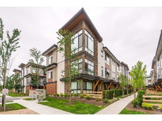 """Photo 1: 209 16488 64 Avenue in Surrey: Cloverdale BC Townhouse for sale in """"Harvest"""" (Cloverdale)  : MLS®# R2376091"""