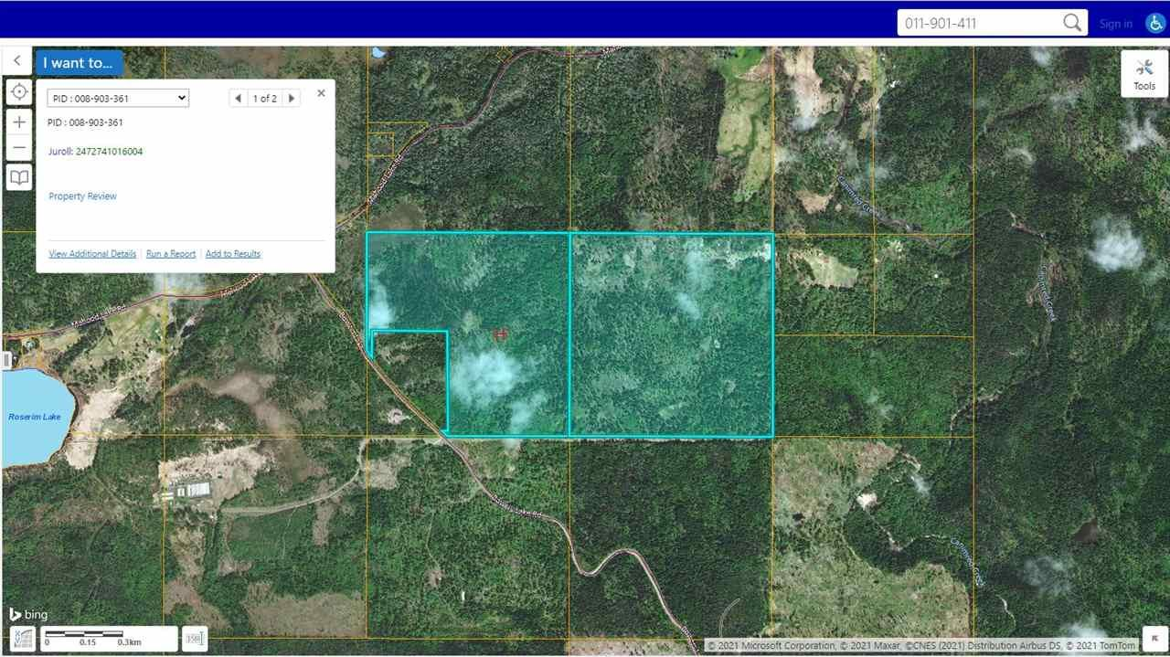 Main Photo: DL 2057 BOWERS LAKE Road in Canim Lake: Canim/Mahood Lake Land for sale (100 Mile House (Zone 10))  : MLS®# R2559036