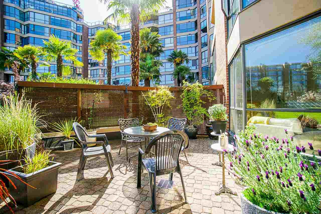 """Main Photo: 108 1450 PENNYFARTHING Drive in Vancouver: False Creek Condo for sale in """"HARBOUR COVE"""" (Vancouver West)  : MLS®# R2459679"""