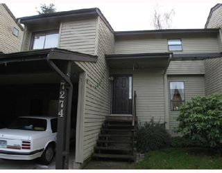 """Photo 1: 7274 APPLEDALE Place in Vancouver: Champlain Heights Townhouse for sale in """"PARKLANE"""" (Vancouver East)  : MLS®# V681536"""