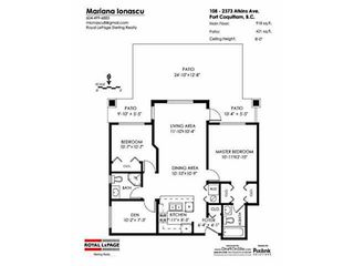 """Photo 20: 108 2373 ATKINS Avenue in Port Coquitlam: Central Pt Coquitlam Condo for sale in """"CARMANDY"""" : MLS®# V1136914"""