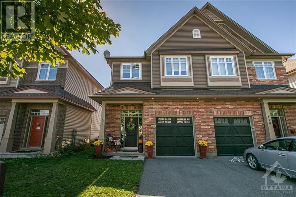 Main Photo: 108 FRASER FIELDS WAY in Ottawa: House for sale : MLS®# 1266153