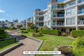 "Photo 1: 102 1220 LASALLE Place in Coquitlam: Canyon Springs Condo for sale in ""Mountainside Place"" : MLS®# R2202260"