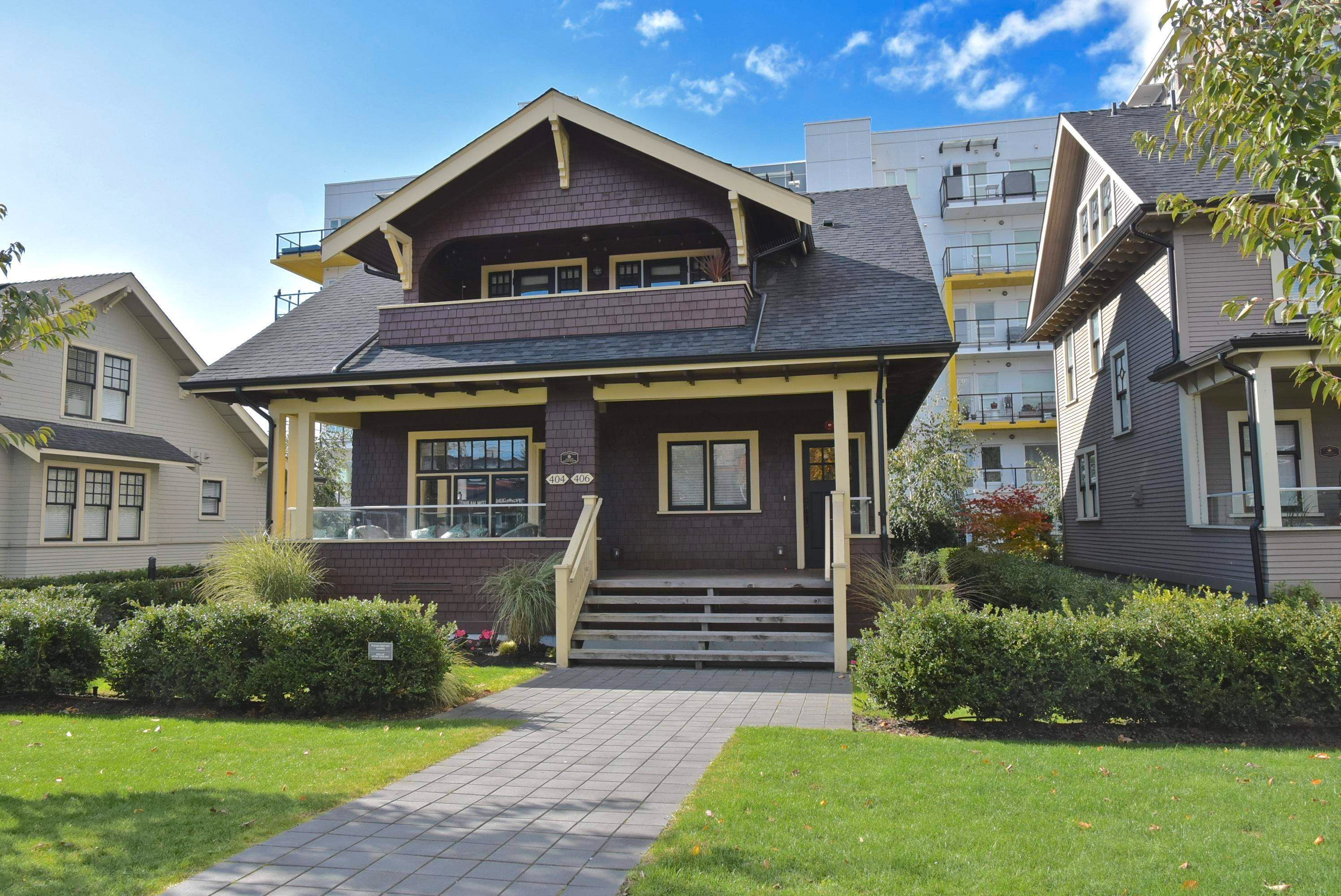 """Main Photo: 406 EIGHTH Street in New Westminster: Uptown NW 1/2 Duplex for sale in """"The Lotus"""" : MLS®# R2625473"""