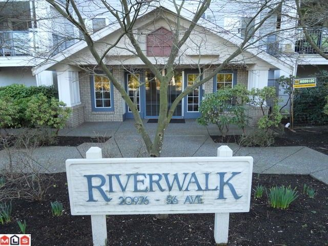 """Main Photo: 114 20976 56TH Avenue in Langley: Langley City Condo for sale in """"RIVER WALK"""" : MLS®# F1018298"""
