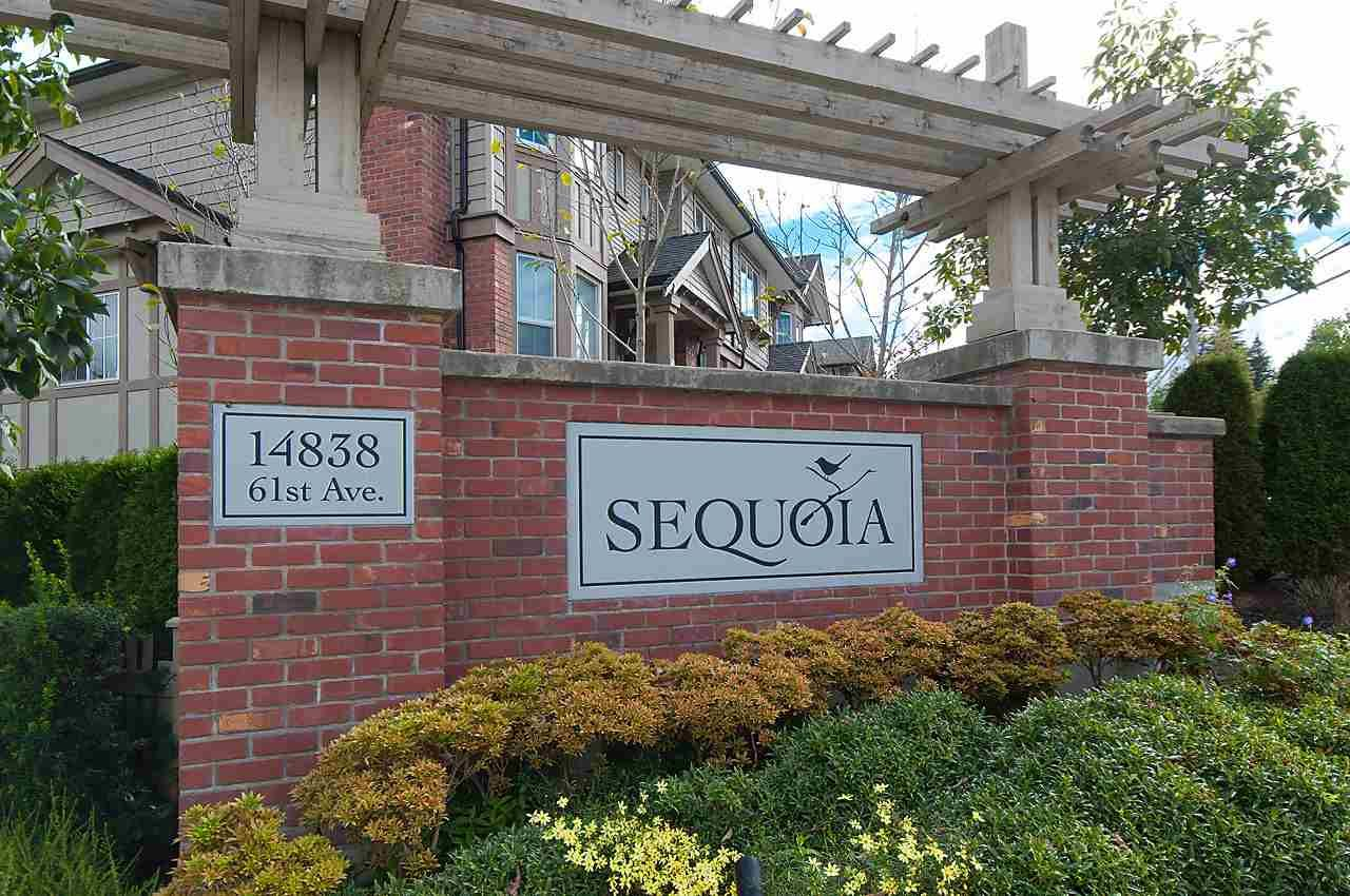 """Main Photo: 82 14838 61 Avenue in Surrey: Sullivan Station Townhouse for sale in """"SEQUOIA"""" : MLS®# R2107237"""