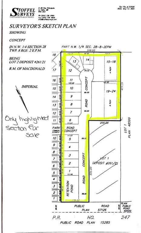 Main Photo: 0 NW 1/4 Section 28 TWP 8 RGE 2 E.P.M. Road in La Salle: R08 Residential for sale : MLS®# 202112422