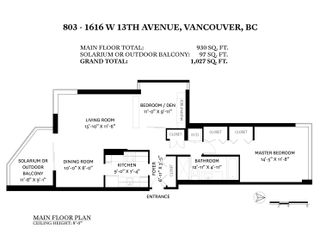 """Photo 18: 803 1616 W 13TH Avenue in Vancouver: Fairview VW Condo for sale in """"GRANVILLE GARDENS"""" (Vancouver West)  : MLS®# R2618958"""