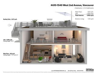 """Photo 20: PH610 1540 W 2ND Avenue in Vancouver: False Creek Condo for sale in """"The Waterfall Building"""" (Vancouver West)  : MLS®# R2580752"""