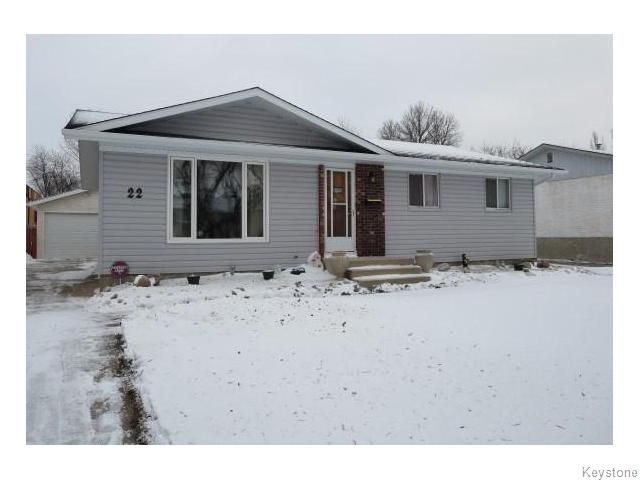 Main Photo: 22 Galbraith Crescent in WINNIPEG: Westwood / Crestview Residential for sale (West Winnipeg)  : MLS®# 1530607
