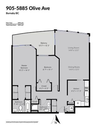"""Photo 17: 905 5885 OLIVE Avenue in Burnaby: Metrotown Condo for sale in """"METROPOLITAN"""" (Burnaby South)  : MLS®# R2428236"""