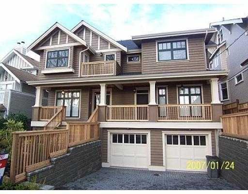 "Main Photo: 2349 8TH Ave in Vancouver: Kitsilano 1/2 Duplex for sale in ""KITSILANO"" (Vancouver West)  : MLS®# V629618"