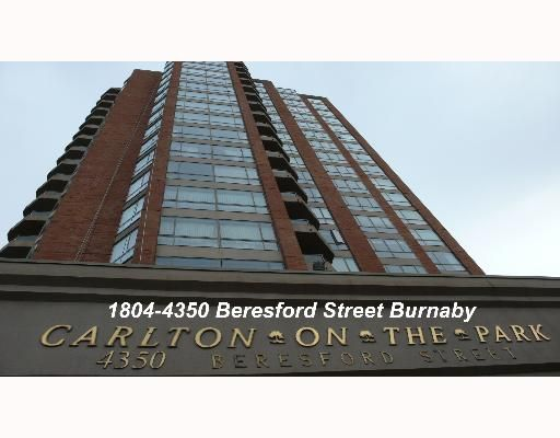 """Main Photo: 1804 4350 BERESFORD Street in Burnaby: Metrotown Condo for sale in """"CARLTON ON THE PARK"""" (Burnaby South)  : MLS®# V640174"""