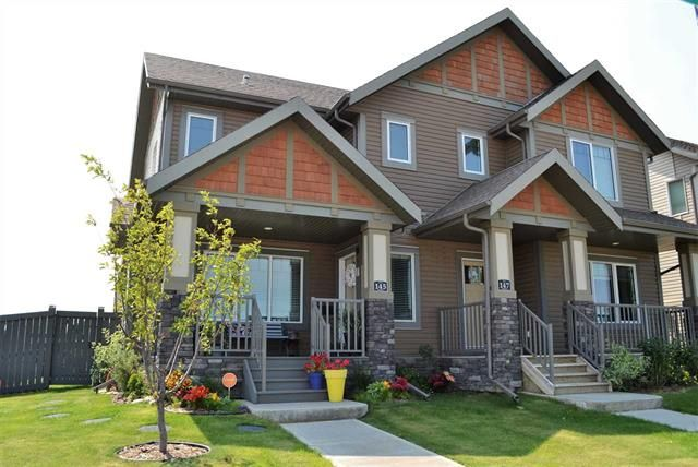 Main Photo: 145 HAWKS RIDGE BV NW: Edmonton House Half Duplex for sale : MLS®# E4123396