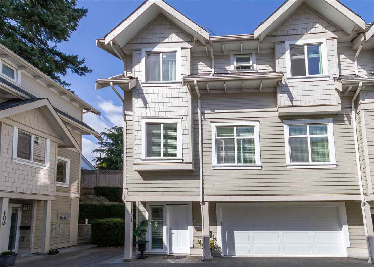 """Main Photo: 104 218 BEGIN Street in Coquitlam: Maillardville Townhouse for sale in """"BEGIN SQUARE"""" : MLS®# R2561894"""