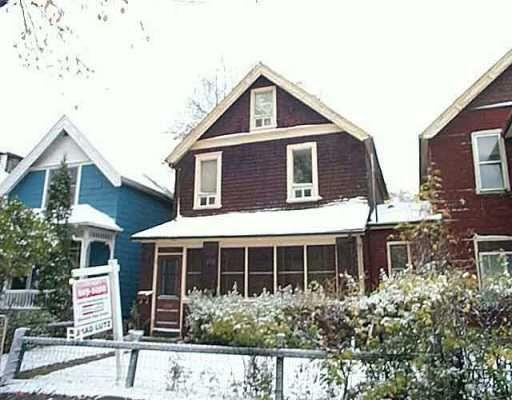 Main Photo: 113 CAUCHON Street in WINNIPEG: Fort Rouge / Crescentwood / Riverview Duplex for sale (South Winnipeg)  : MLS®# 2516297