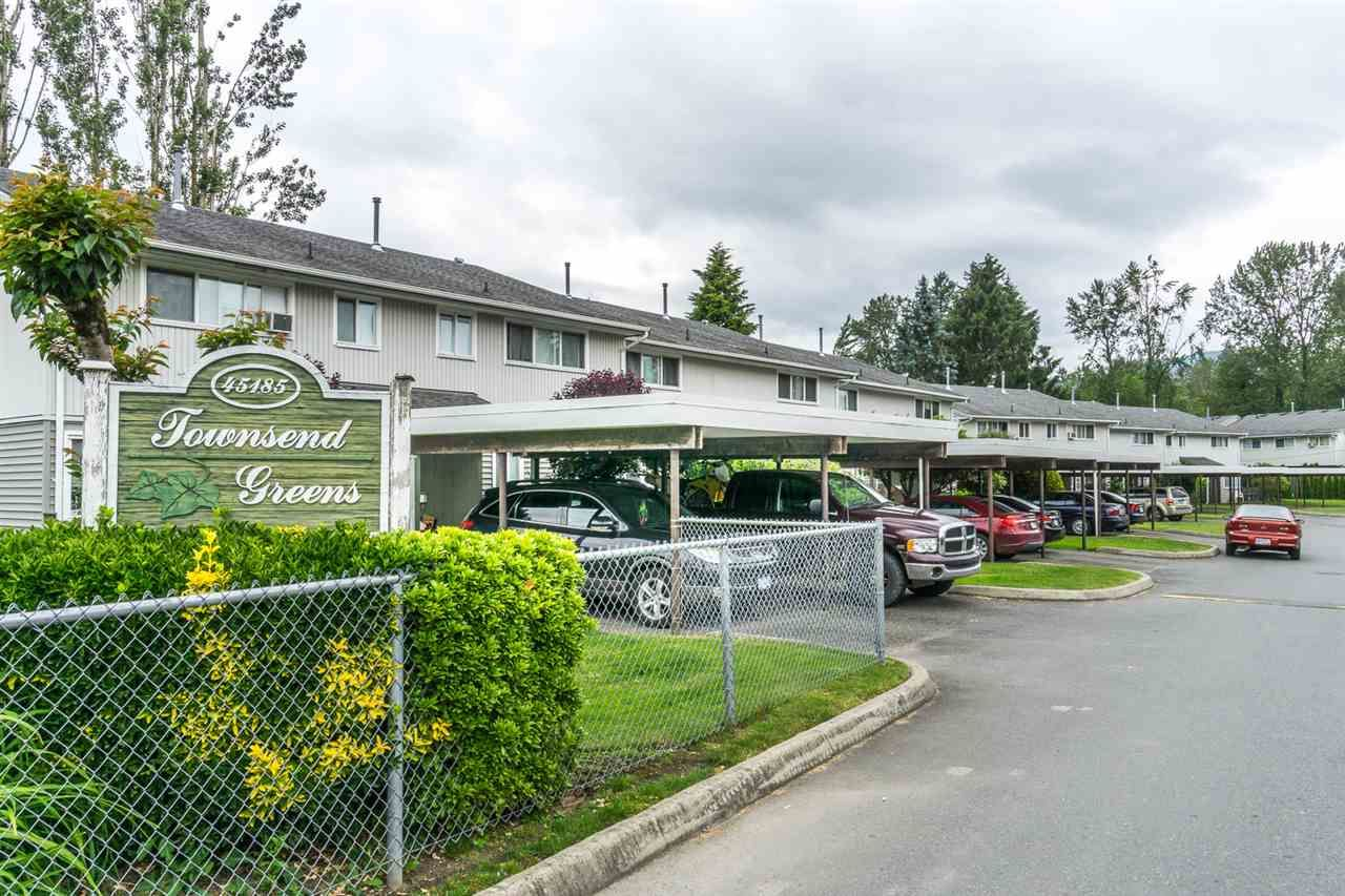 "Main Photo: 92 45185 WOLFE Road in Chilliwack: Chilliwack W Young-Well Townhouse for sale in ""TOWNSEND GREENS"" : MLS®# R2176968"
