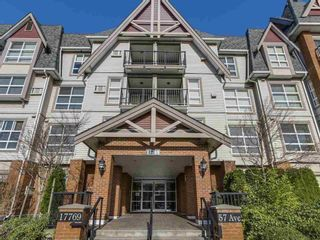 """Photo 1: 414 17769 57 Avenue in Surrey: Cloverdale BC Condo for sale in """"Clover Downs Estates"""" (Cloverdale)  : MLS®# R2615642"""