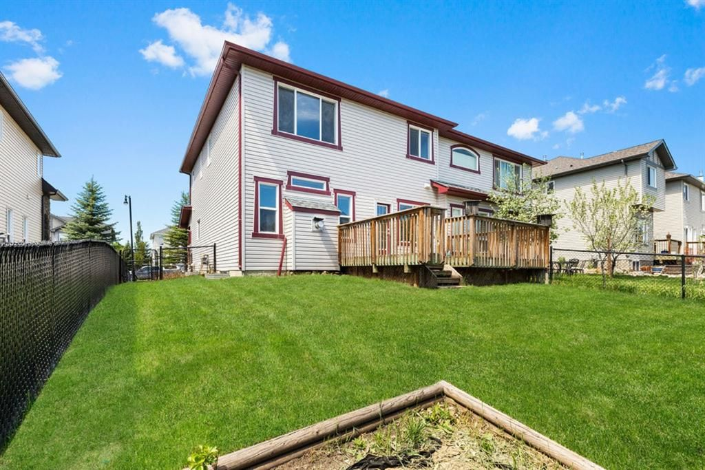 Wonderful backyard with an exit to Okotoks' pathway system