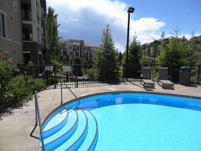 Pool looking towards Building